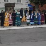 Выступление на казачьем параде.